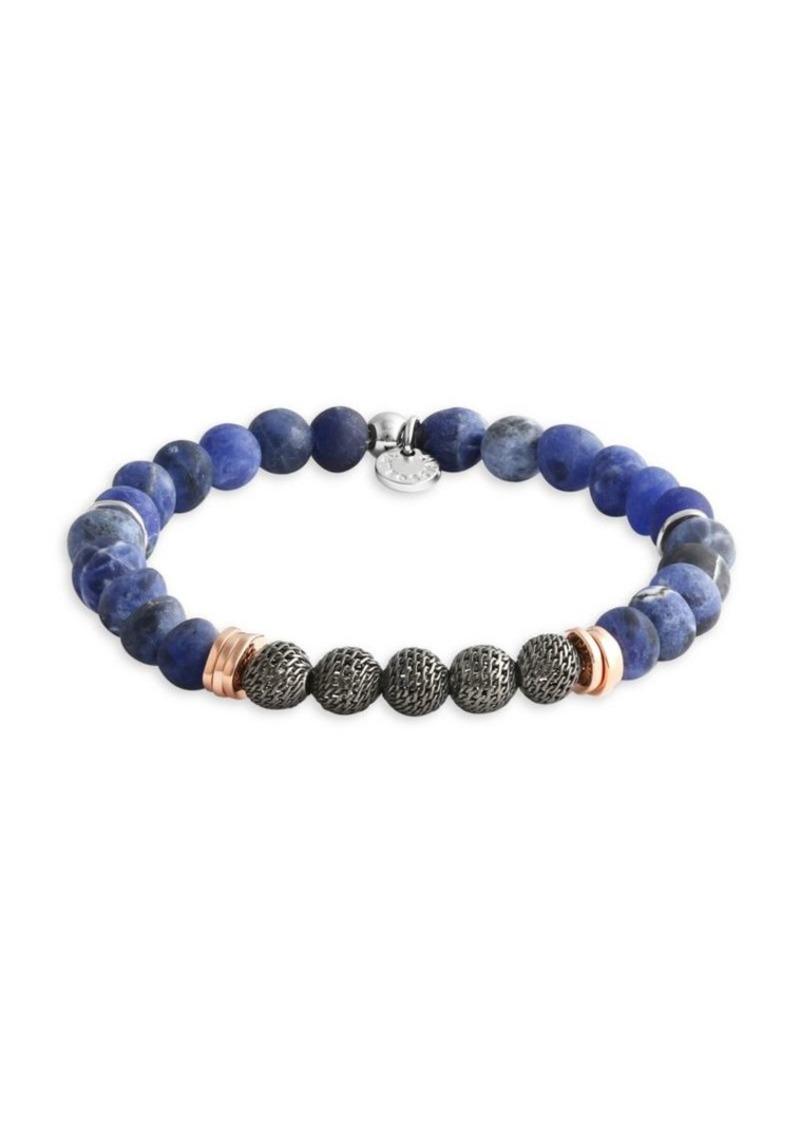 Tateossian Blue Stonehenge Beaded Bracelet