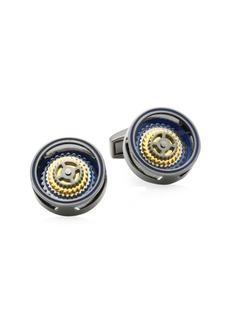 Tateossian Bullseye Rotating Gears Cufflinks