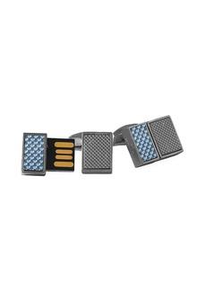 Tateossian Carbon Slim USB Cufflinks