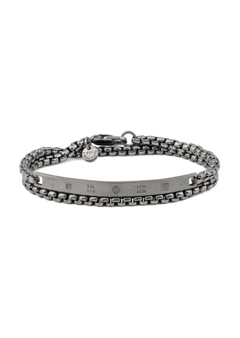 Tateossian Chain Identity Double-Wrap Chain ID Bracelet