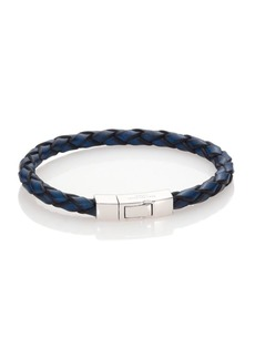 Tateossian Click Scoubidou Leather & Sterling Silver Bracelet