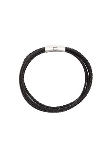 Tateossian Cobra Leather Bracelet