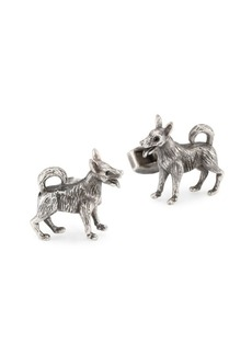 Tateossian Crystal Dog Cuff Links