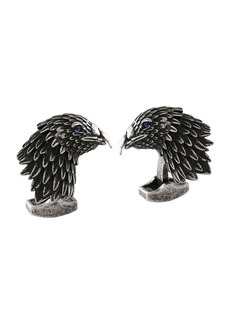 Tateossian Eagle Cuff Links w/ Crystals