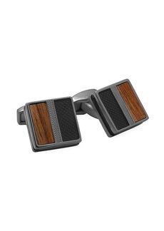 Tateossian Enamel & Wood Cufflinks