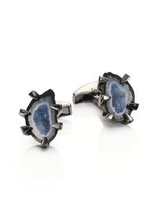 Tateossian Geode Crystal Cuff Links