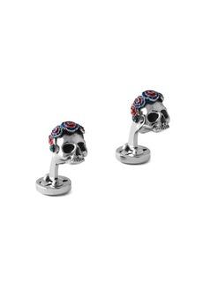 Tateossian x Grateful Dead Gothic Roses Skull Cufflinks