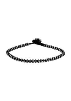Tateossian Gunmetal-Plated Stainess Steel Macrame Bracelet