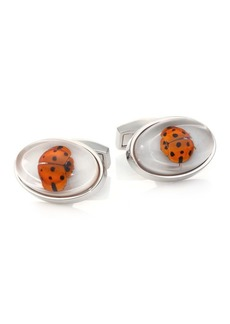 Tateossian Ladybug & Mother-Of-Pearl Cuff Links