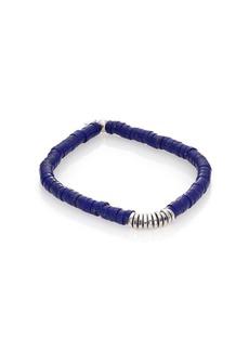Lapis & Silver Disc Bracelet