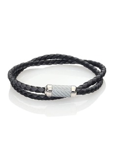 Tateossian Leather & Sterling Silver Bracelet