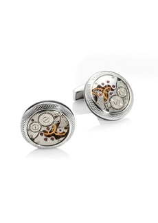 Tateossian Limited Edition Skeleton Movement Silver Cufflinks