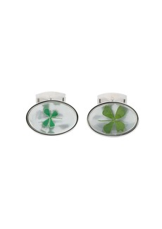 Tateossian Lucky Clover cufflinks