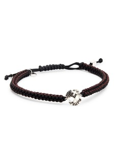 Tateossian Macrame Skull Bracelet