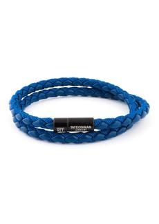 Tateossian Men's Braided Double-Wrap Bracelet  Size M