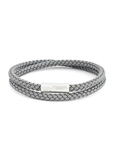Tateossian Men's Cable Double-Wrap Bracelet