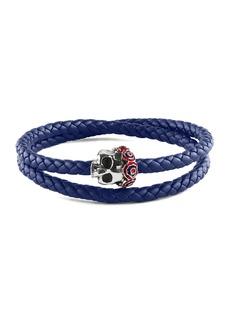Tateossian Men's Gothic Skull Pop Rubber Bracelet  Blue  Size M