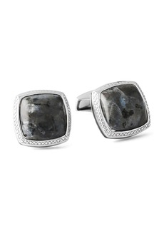 Tateossian Men's Limited-Edition Square Larvikite Cuff Links