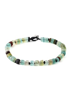 Tateossian Men's Roman Glass Beaded Bracelet  Medium