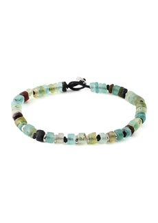 Tateossian Men's Roman Glass Beaded Bracelet  Large