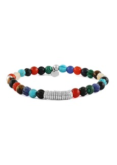 Tateossian Men's Semiprecious Beaded Disc Bracelet