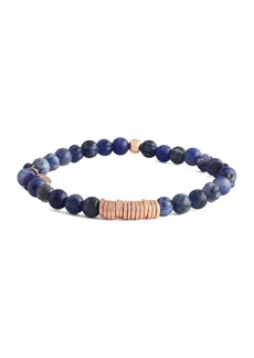 Tateossian Men's Sodalite & Disc Bracelet