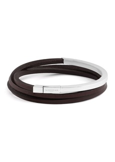 Tateossian Men's Triple-Wrap Leather Bracelet
