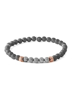 Tateossian Men's Two-Tone Mesh Bead Bracelet