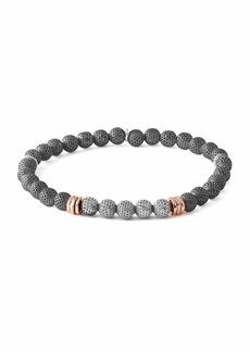 Tateossian Men's Two-Tone Mesh Bead Bracelet