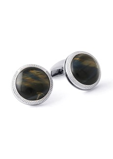 Tateossian Men's Variegated Tiger's Eye Cufflinks