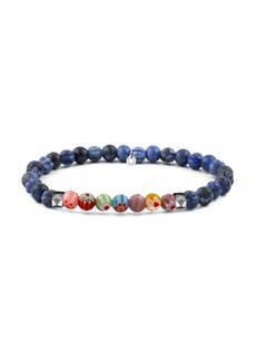 Tateossian Millefiori Glass & Agate Beaded Bracelet