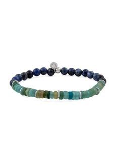 Tateossian Oceana Sodalite & Roman Glass Beaded Bracelet