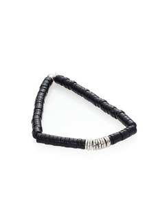 Tateossian Onyx & Sterling Silver Disc Bracelet