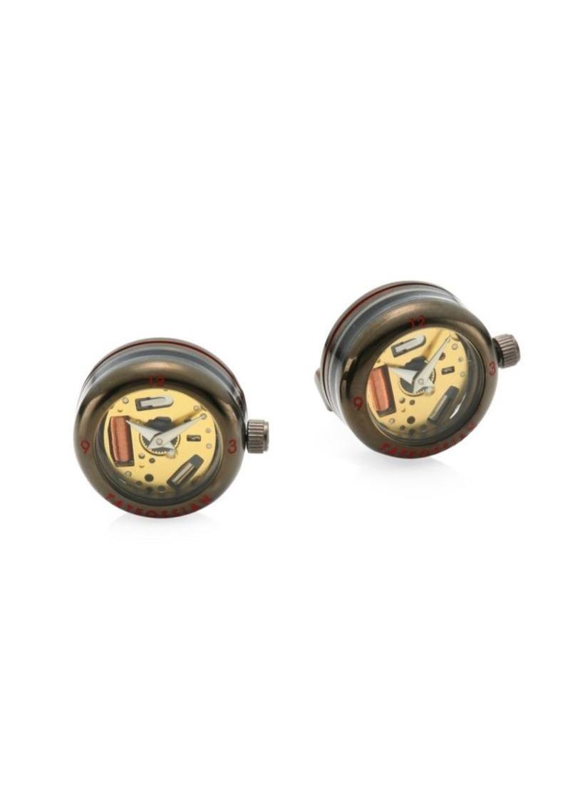 Tateossian Panorama Stainless Steel Watch Cufflinks