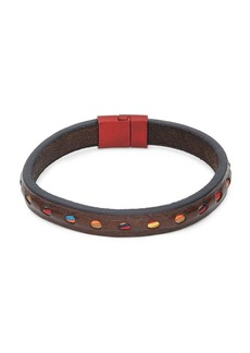 Tateossian Perforated Leather Bracelet