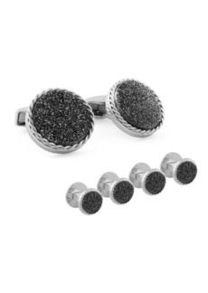 Tateossian Round Cufflinks and Stud Set