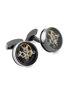 Tateossian Round Tourbillon Gear Cuff Links