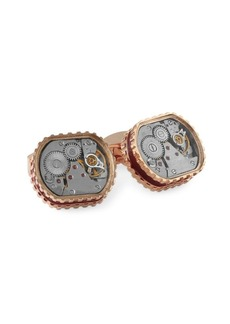 Tateossian Skeleton Gear Yellow Goldplated Cufflinks