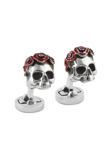 Tateossian Steel Your Face Cuff Links