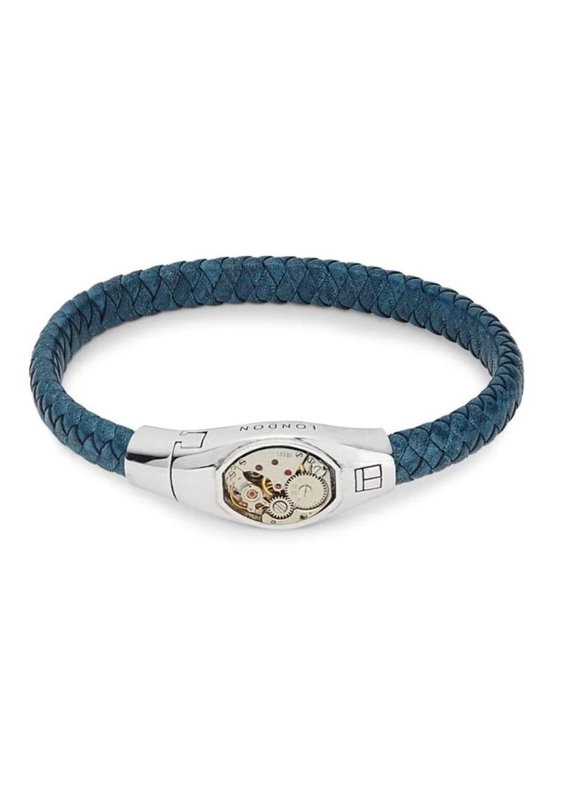 Sterling Silver & Leather Bracelet