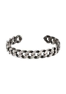 Tateossian Sterling Silver Chain Cuff Bracelet
