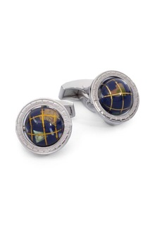 Tateossian Sterling Silver Globe Cuff Links