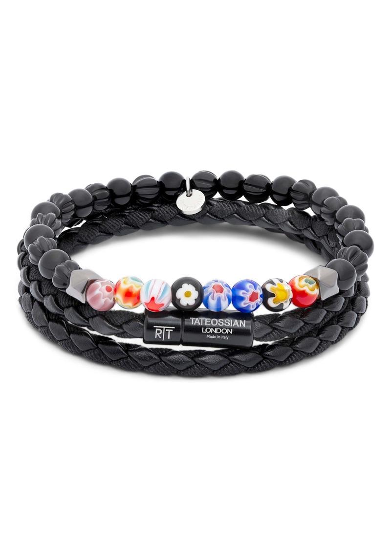 Tateossian 2-Piece Braided Bead Bracelet