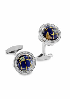 Tateossian Blue Lapis Globe Cuff Links