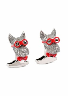 Bookish Scottish Terrier Cuff Links