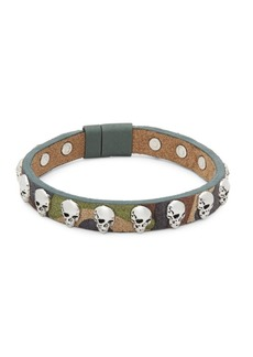 Tateossian Camouflage Leather Bracelet