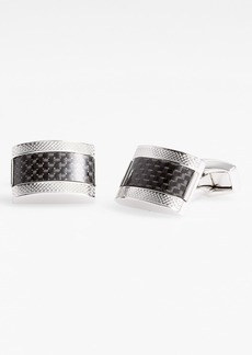 Tateossian Carbon Fiber Cuff Links