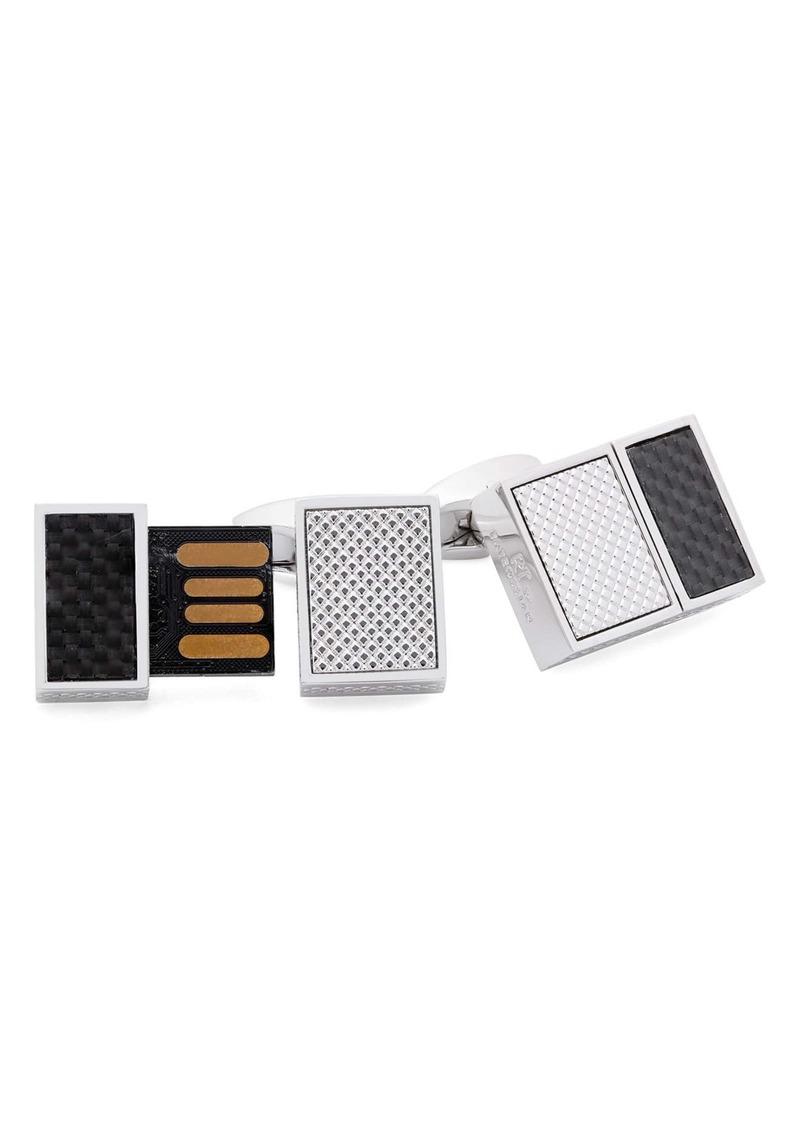 Tateossian Carbon Sim USB Cuff Links