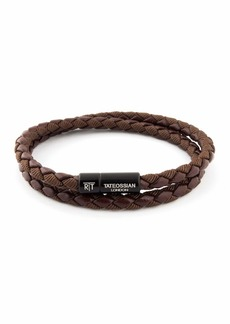 Tateossian Chelsea Double-Wrap Braided Bracelet