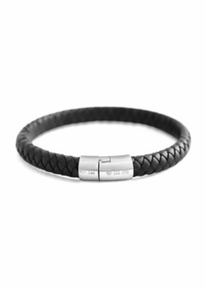 Tateossian Cobra Men's Braided Leather Bracelet